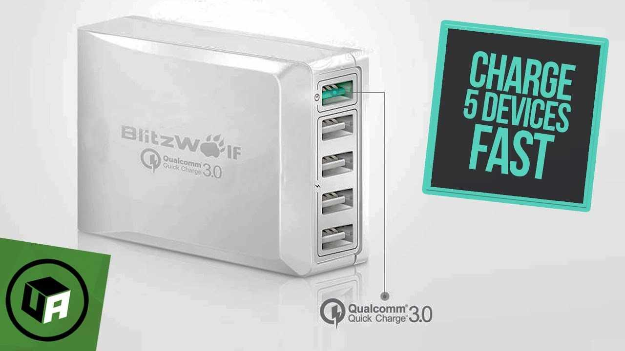 BlitzWolf® BW-S7 5 Port USB QuickCharge 3.0 UNBOXING. 40 Watts Desktop Wall Charger Review