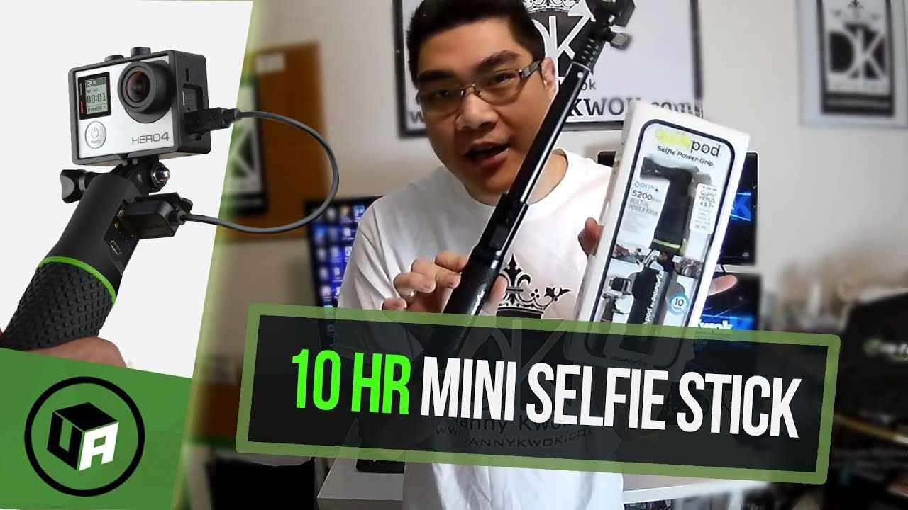 DIGIPOWER : QUIKPOD 5200mAh SELFIE GRIP REVIEW. Give UR GoPRO Camera 10 Extra Hours of Power.