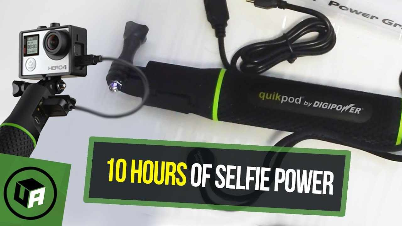 DIGIPOWER : QUIKPOD 5200mAh SELFIE GRIP UNBOXING. Give UR GoPRO Camera 10 Extra Hours of Power.