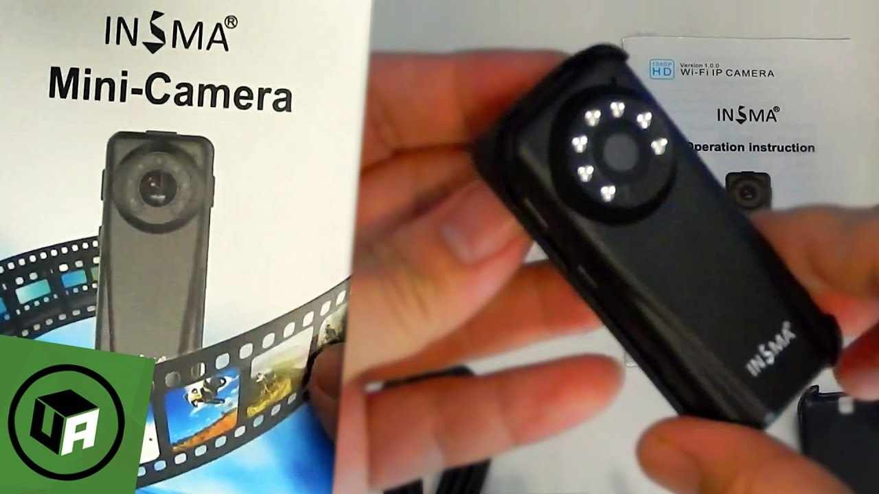 INSMA WI-FI SPY SECURITY Camera Unboxing. 1080P / Nightvision / Phone Wifi / 2-Way-Audio / Loop REC