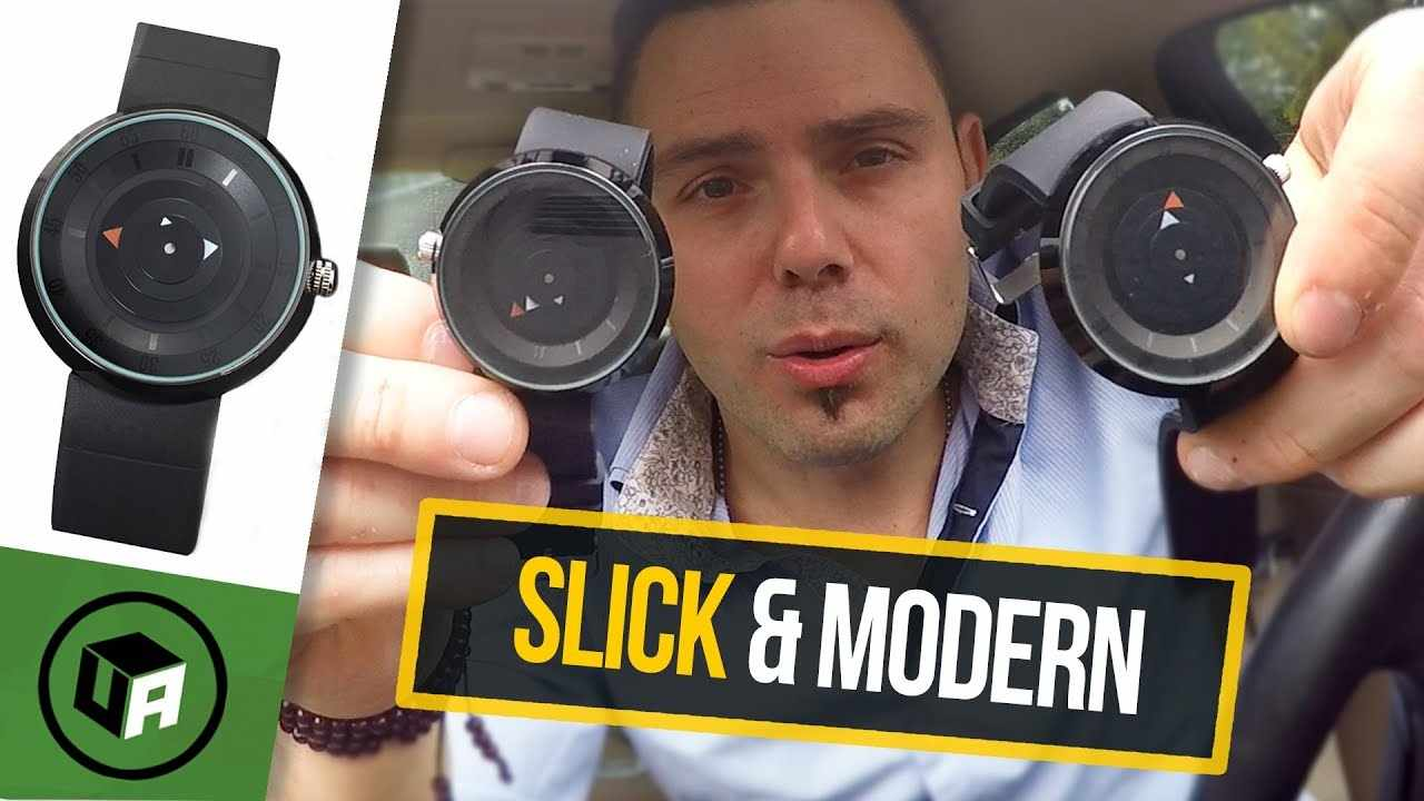 SLEEK & MODERN BREAK Watch Review.  Fashion Luxury Brand Black Silicone Rubber Watch