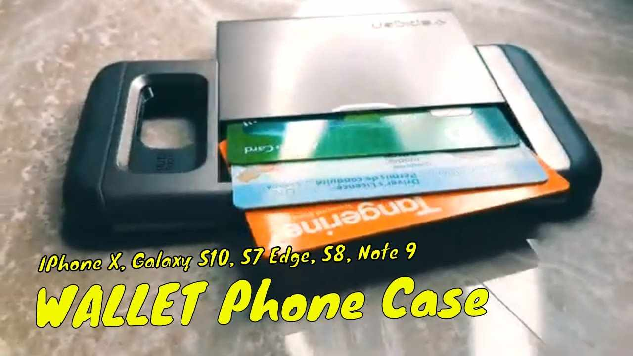 SPIGEN Wallet Case REVIEW - Galaxy S8, IPHONE X, S8 Plus, Galaxy S10, Note 9, Huawei P30 Phone Case