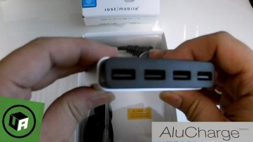 AluCharge by JUST MOBILE - World's Slimmest 4-Port Hub & USB Charger. Unboxing Overview.
