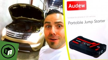 AUDEW Jump Starter Review.  ** 16800 Mah 800A ** Car BOOST Test. MUST HAVE Car & Smartphone Charger