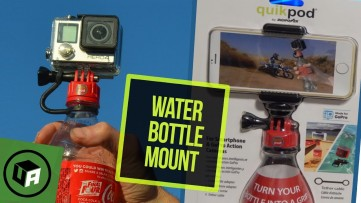 DIGIPOWER: QUIKPOD Water Bottle Grip Handle for GoPro. Turn UR Bottle into a Camera Selfie Stick
