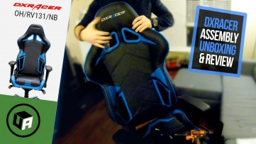 DXRacer Racing Series Chair Review. OH/RV131/NB Gaming Chair UNBOXING. ASSEMBLY & REVIEW - Blue