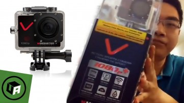 Monster VILLAIN Action Camera 1080p + 30FPS with 32GB Unboxing and First Impressions