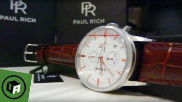 Paul Rich CHRONO WHITE SILVER Watch Unboxing Overview - Men's Watch /w Crocodile Strap Unboxing